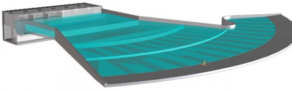 Artist's rendering of the Perfect Swell wave pool by American Wave Machines