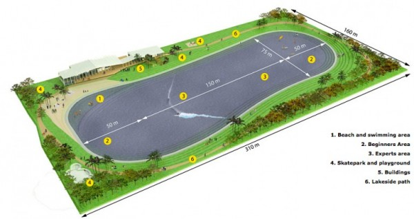 Wavegarden Schematic for Future Wave Pools and Surf Parks