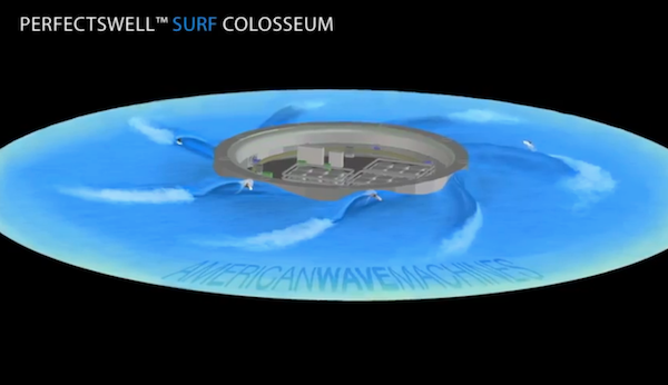 American Wave Machines Surf Colosseum with PerfectSwell Technology