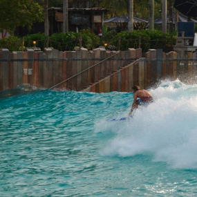 Typhoon Lagoon Wave Pool Surfing