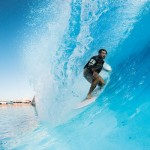 Dion Agius Electric Blue Heaven Surf Park Barrel
