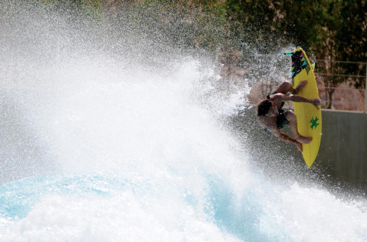 Matt Meola Surfing Wadi Adventure Surf Park Wave Pool