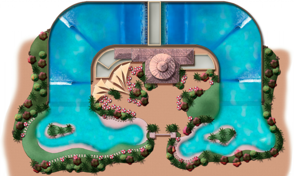Point Break Wave Company Artistic Rendition of a Surf Park Facility