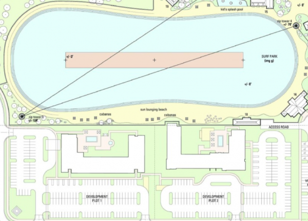 AcquaSol Proposed Master Plan Includes Surf Park | Scaled Version