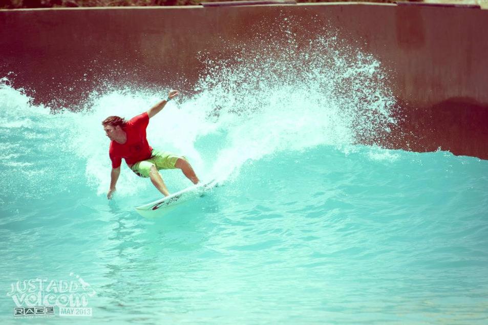 Digging in the Rail | Volcom Surf & Skate Jam 2013 | Wadi Adventure Wave Pool