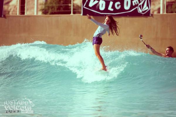 Soul Arch Surfer Girl   Volcom Surf & Skate Jam 2013   Wadi Adventure Wave Pool