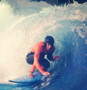 Rob Kelly at Surfs Up NH in the barrel