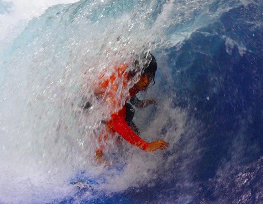 Rob Kelly Barreled at Surfs Up NH