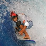 Kai Nichols Barrled at Surfs Up NH during ESA Contest on August 17 2014
