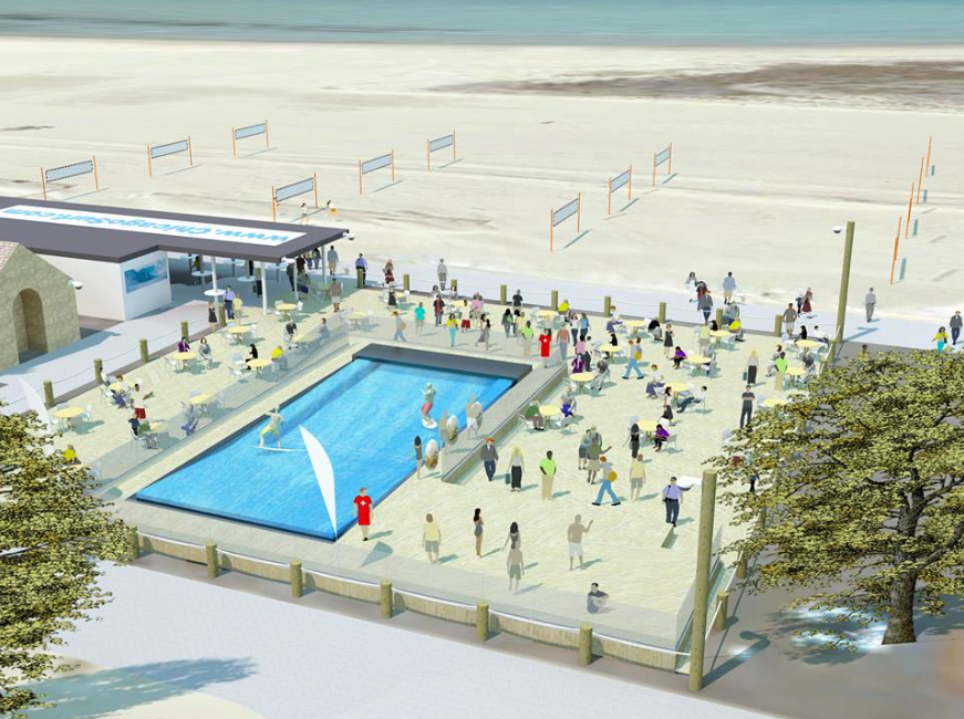 Chicago Surf Artist Rendering | SurfStream by American Wave Machines | Surf Park Central