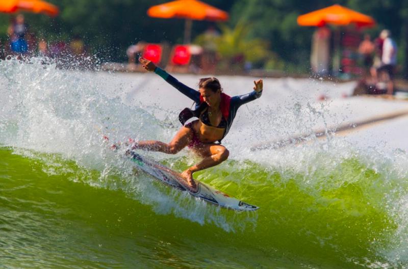 Sally Fitzgibbons surfing wavegarden prototype 2.0