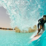 Dion Agius Closeout Barrel at Wadi Adventure Wave Pool | Murphys Waves | Smorgasboarder | Surf Park Central