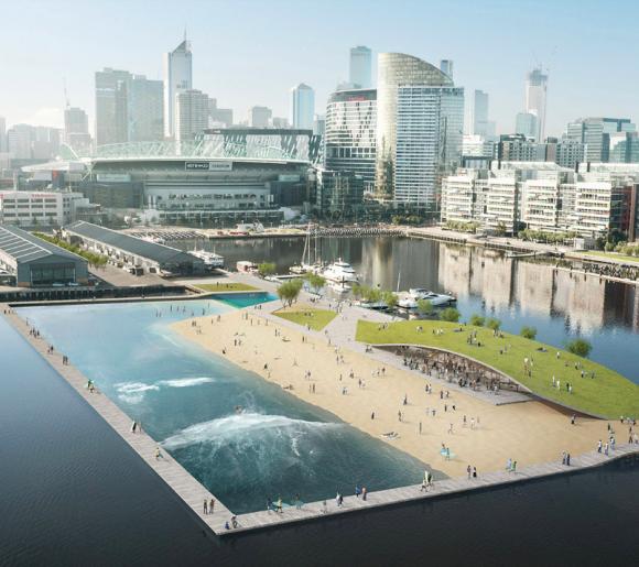 Docklands Surf Park proposed in Melbourne's Central Business District