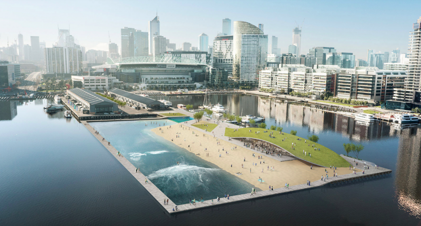 Docklands Surf Park proposed in Melbourne's Central Business District