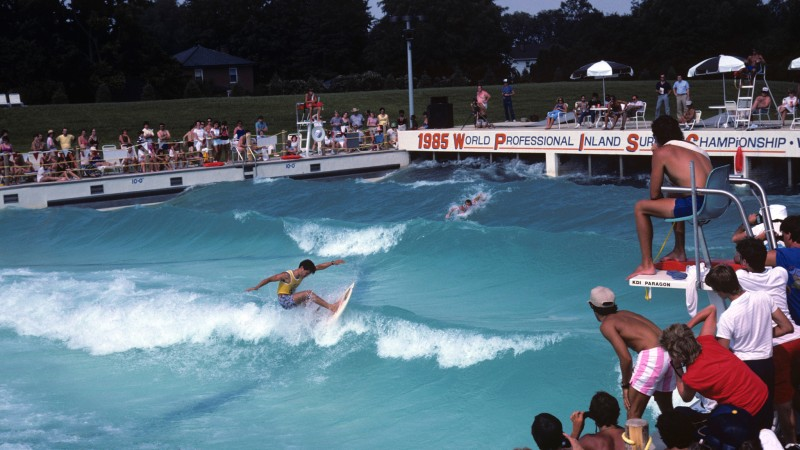 1985 Inland Surfing Championships Dorney Park Allentown Pennsylvania Wave Pool | Surf Park Central
