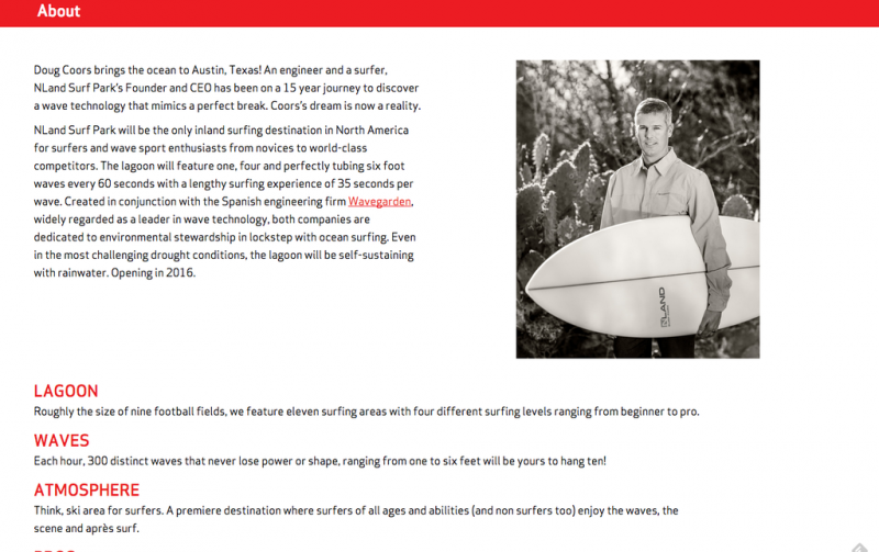 Doug Coors - descendant of Coors Brewing founder Adolph Coors, is named as the founder and CEO of NLand Surf Park