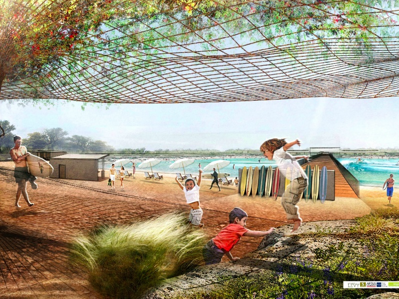 A rendering of what the NLand Surf Park will look like once construction is completed in 2016. Courtesy of NLand Surf Park