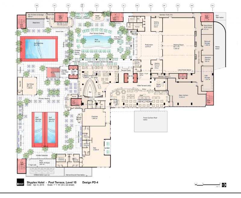 Skyplex Sky Surf Park Pool Deck Site Plan