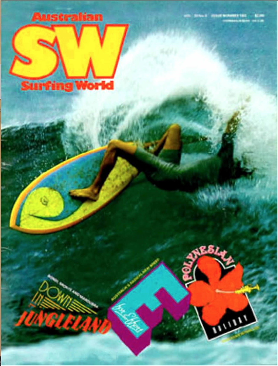 Greg Webber surf magazine cover shot 1980