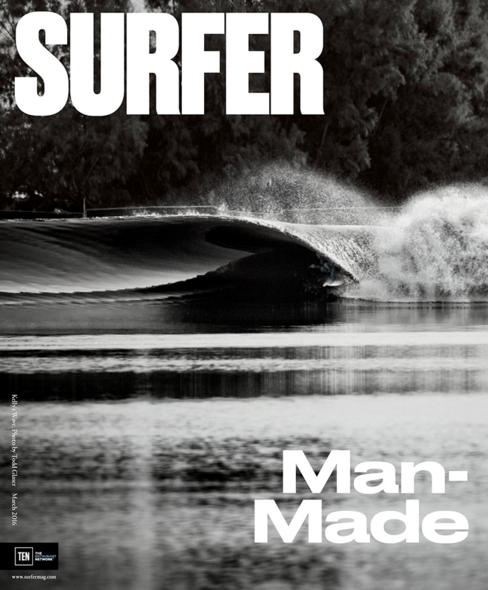Slater's Manmade Wave Surfer Mag Cover March 2016