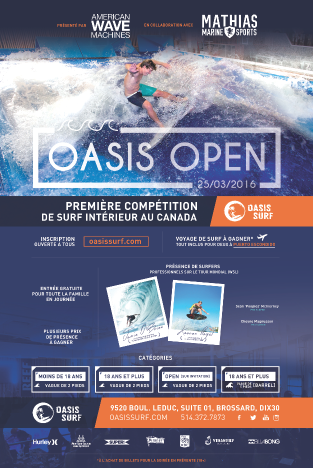 Oasis Open Indoor Surfing Competition at Oasis Surf   Presented by American Wave Machines   Surf Park Central
