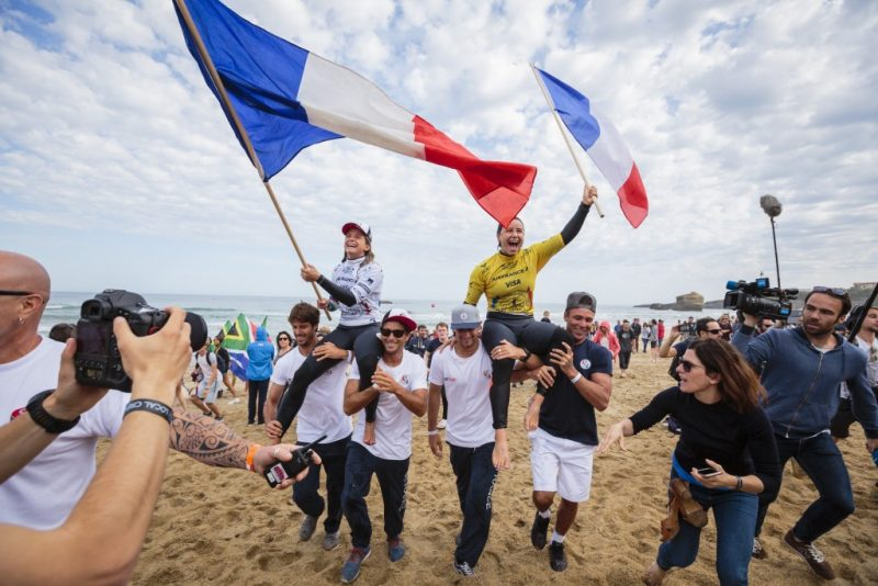Surf park central olympic qualification procedures wsl ct surfers pauline ado and johanne defay rejoice upon respectively earning the womens gold and silver medals for team france at the 2017 isa world platinumwayz