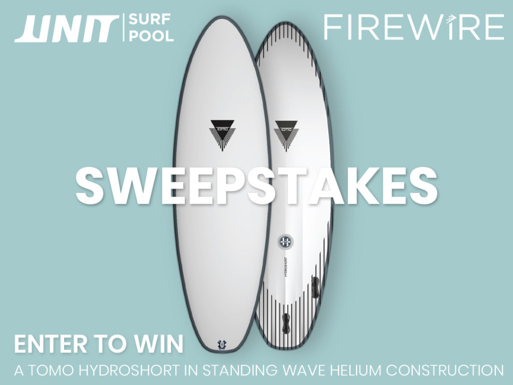 UNIT Surf Pools Firewire surfboards sweepstakes
